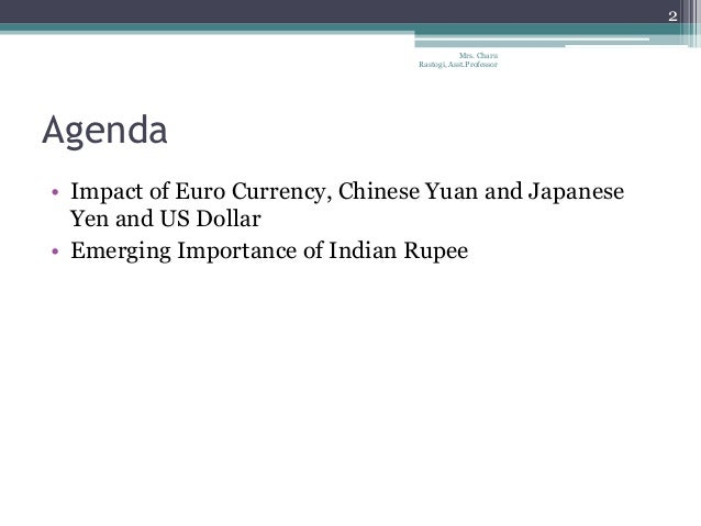 impact of the asian currency unit In this paper we evaluate the feasibility of a common asian currency unit (acu) involving countries of east and south asia we analyze the various properties of an acu and calculate it's value using weighted averages of the values of asian currencies.