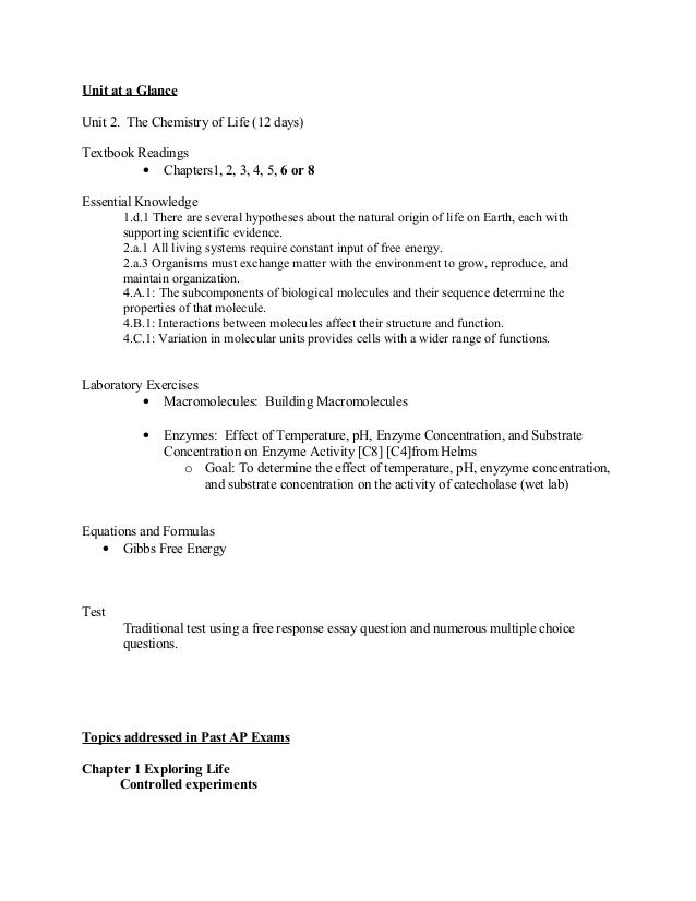 Free Response Essay Enzymes Mistyhamel