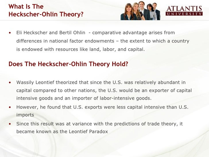 the model of trade in heckscher ohlin theory