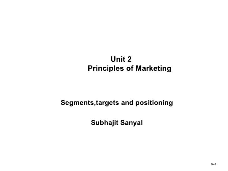 fundamentals of marketing segmentation Definition of market segmentation: the process of defining and subdividing a large homogenous market into clearly identifiable segments having similar needs, wants, or demand characteristics its objective is to design a marketing mix.