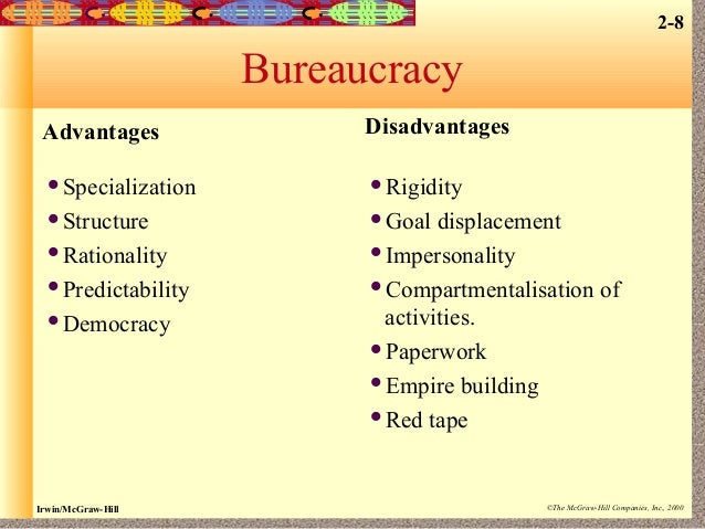 10 Main Advantages And Disadvantages Of Bureaucracy