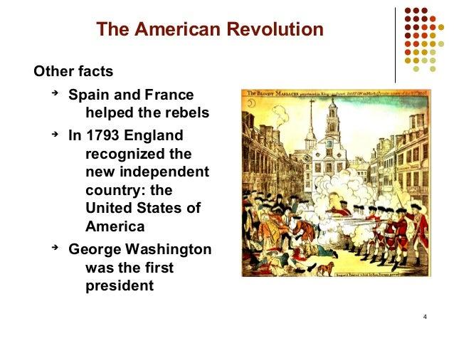 Unit The American Revolution - American revolution facts