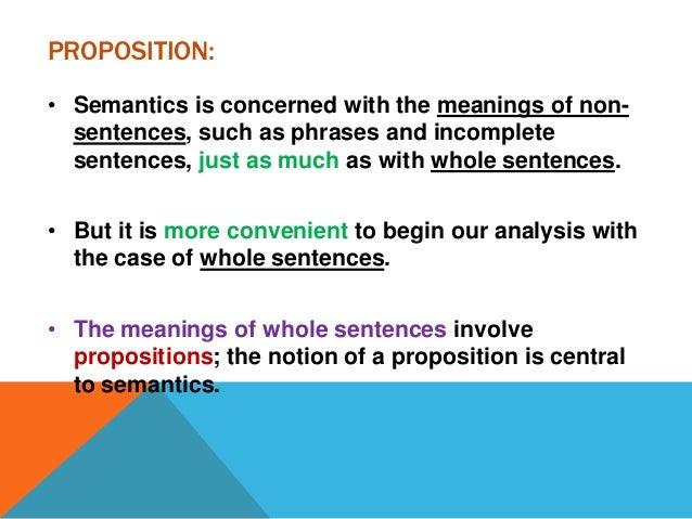 unit 2  sentences  utterances  and propositions