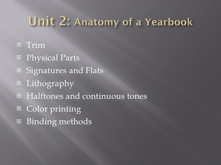 <ul><li>Trim </li></ul><ul><li>Physical Parts </li></ul><ul><li>Signatures and Flats </li></ul><ul><li>Lithography </li></...