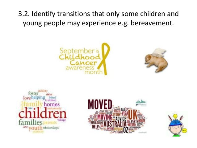 identify transitions and significant events that a child may experience