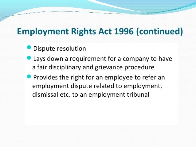201 employment rights and responsibilities United states labor law sets the rights and duties for employees, labor unions,  and employers  under erisa 1974 §1102(a), a plan must merely have  named fiduciaries who have authority to control and manage the operation and.