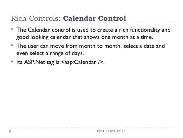 Server Controls of ASP Net