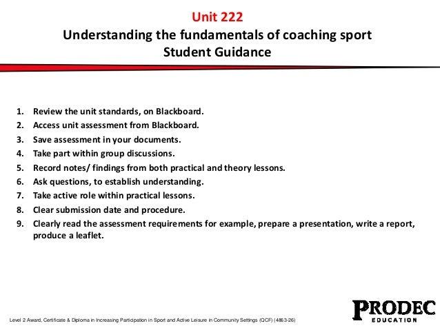 Unit 222 understanding the fundamentals of coaching sport Slide 2