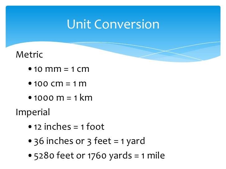 Unit Conversion 20