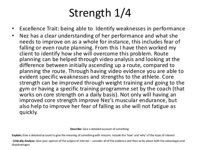 my strengths and area of development Strengths and career development  development but strengths must be an important part of your career  how i use my strengths everyday in my career and that is .