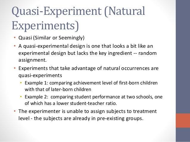 experimental and quasi experimental design essay