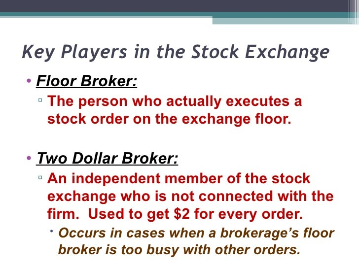 Unit 2b Players On The Stock Exchange Notes