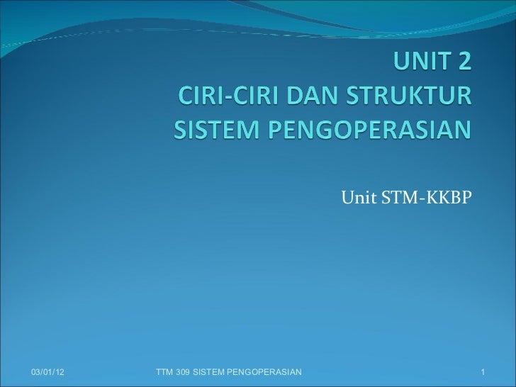 Unit STM-KKBP 03/01/12 TTM 309 SISTEM PENGOPERASIAN