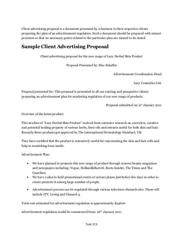 Advertising Proposal Templates Sample Art Proposal Template Sample ...