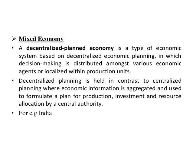 Decentralized planning (economics)