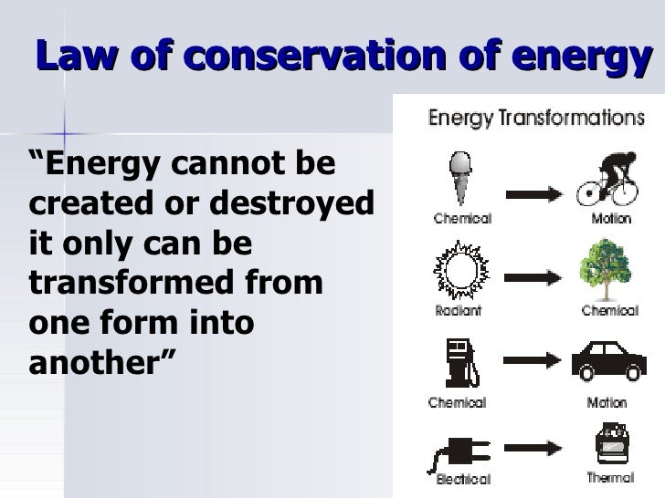 Kinetic and potential energy for Facts about energy conservation