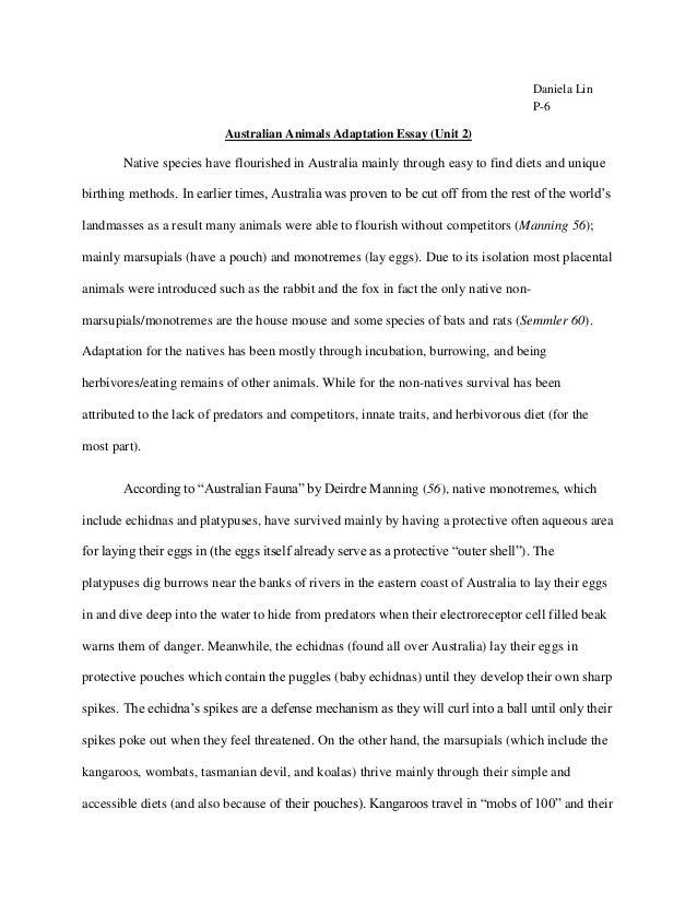 endangered species thesis statement