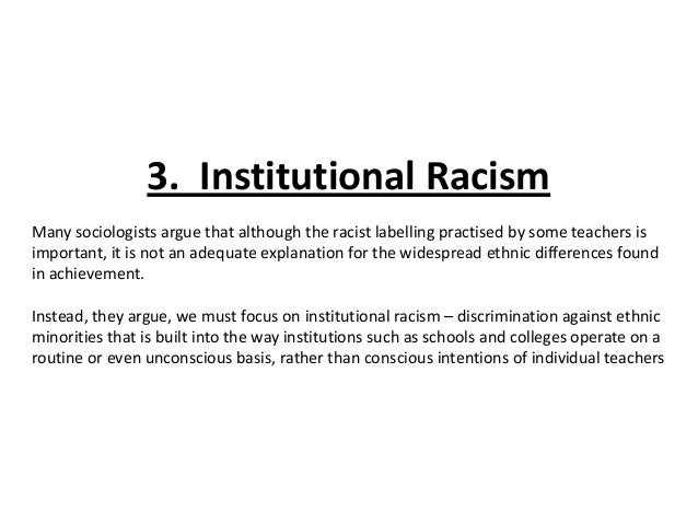 gce sociology revision aqa unit education ethhnic differences i   49 3 institutional racism