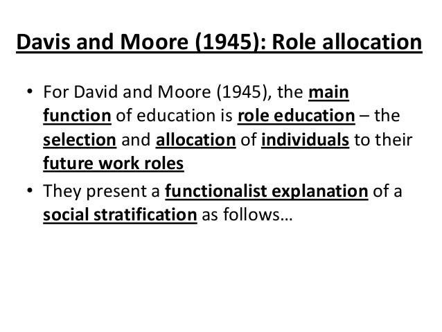 david moore thesis sociology Functionalist theories of education  david hargreaves  circe newbold et al sociology as for aqa stephen moore et al.