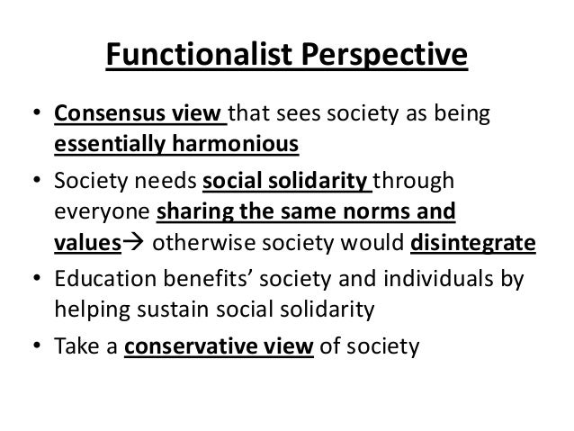 essay on functionalism view on familt