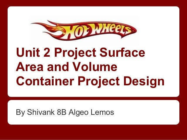 Unit 2 Project SurfaceArea and VolumeContainer Project DesignBy Shivank 8B Algeo Lemos