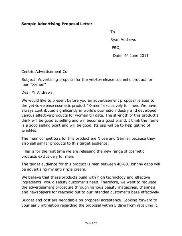 Proposal Letter Sample For Product Gallery - project proposal simple