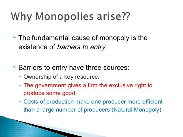 natural monopoly 4 essay A natural monopoly is a kind of monopoly that occurs when a company takes advantage of an industry's high barriers to entry to create a protective wall around its operations it does not arise due to collision, consolidation or hostile takeovers.