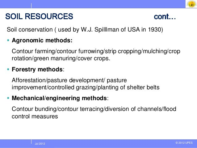 Unit 2 natural resources lecture 1 for Soil resources definition