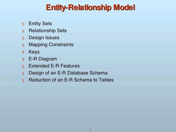 Entity-Relationship Model <ul><li>Entity Sets </li></ul><ul><li>Relationship Sets </li></ul><ul><li>Design Issues  </li></...