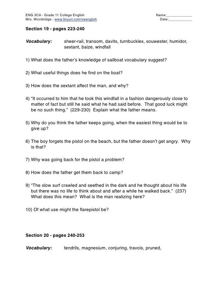 ENG 3CA - Grade 11 College English                                  Name:_____________ Mrs. Wooldridge - www.tinyurl.com/v...