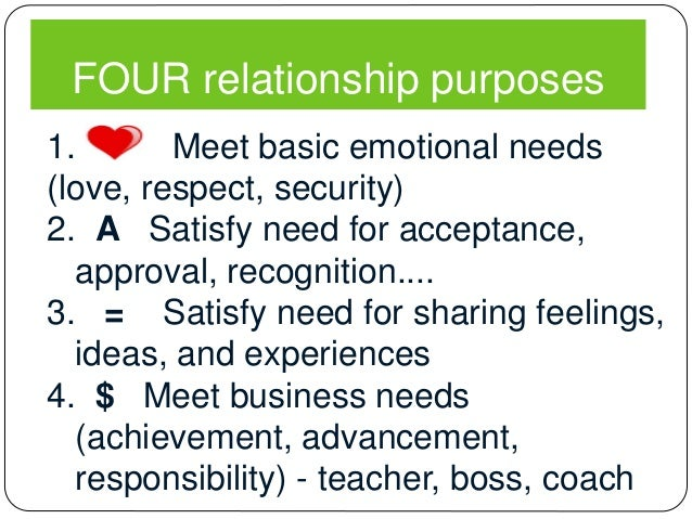 roles and relationship