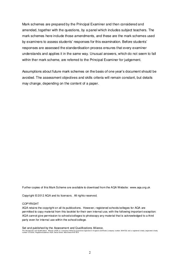 literature marking scheme English literature – marking scheme – form 4 secondary – track 3 – 2014  page 1 of 3 directorate for quality and standards in education.