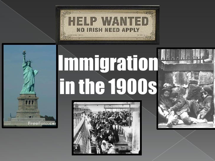 Immigration<br />in the 1900s<br />