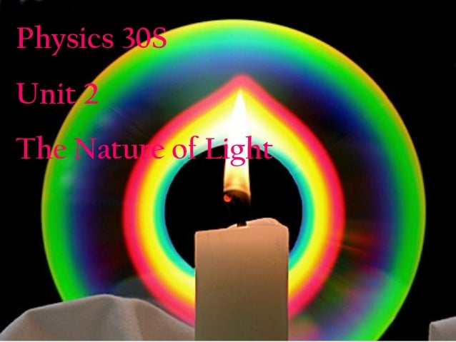 Physics 30SUnit 2The Nature of Light