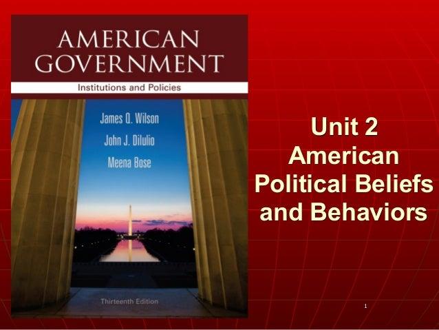 1 Unit 2 American Political Beliefs and Behaviors