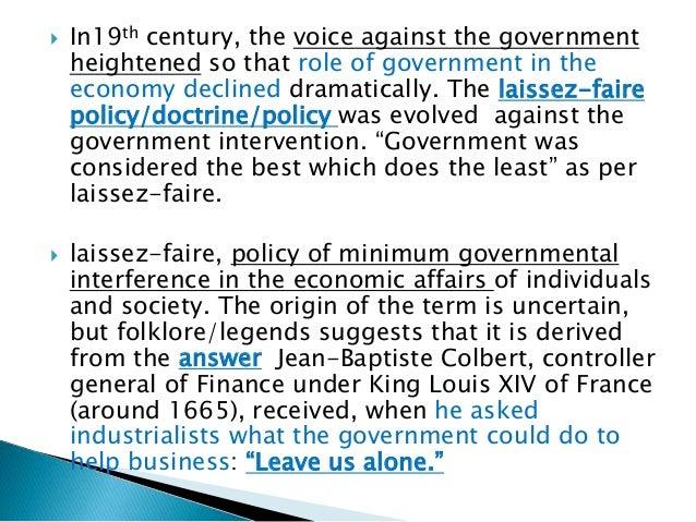 Laissez-faire vs. government intervention essay
