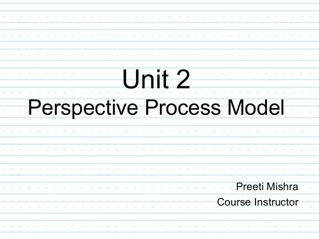Unit 2 Perspective Process Model Preeti Mishra Course Instructor