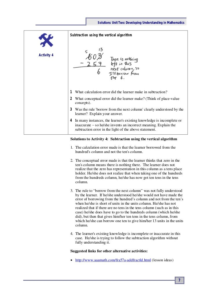 Ace Maths: Solutions Unit Two - Developing Understanding in Mathemati…