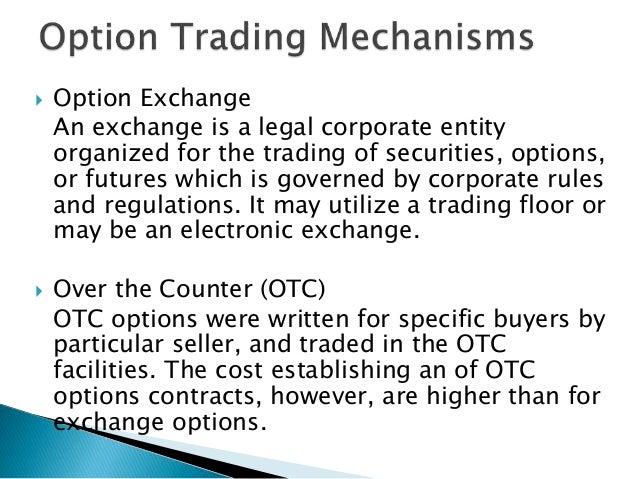 Exchange traded options vs otc options