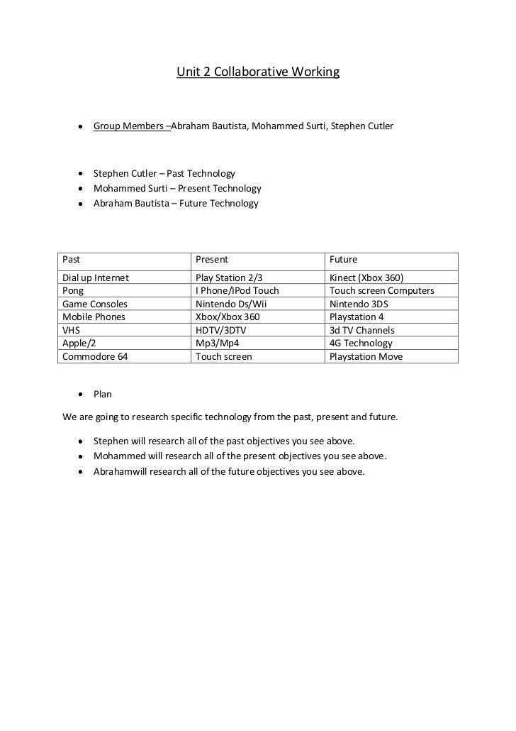 Unit 2 Collaborative Working <br /><ul><li>Group Members – Abraham Bautista, Mohammed Surti, Stephen Cutler