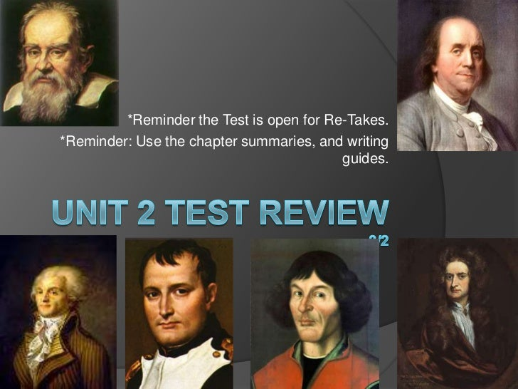 Unit 2 Test Review 3/2<br />*Reminder the Test is open for Re-Takes.<br />*Reminder: Use the chapter summaries, and writin...
