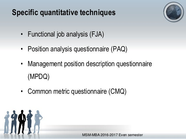 common metric questionnaire Classification systems used as basis for or resulting from job analyses common  metric questionaire (cmq), the common metric questionnaire (cmq) is.