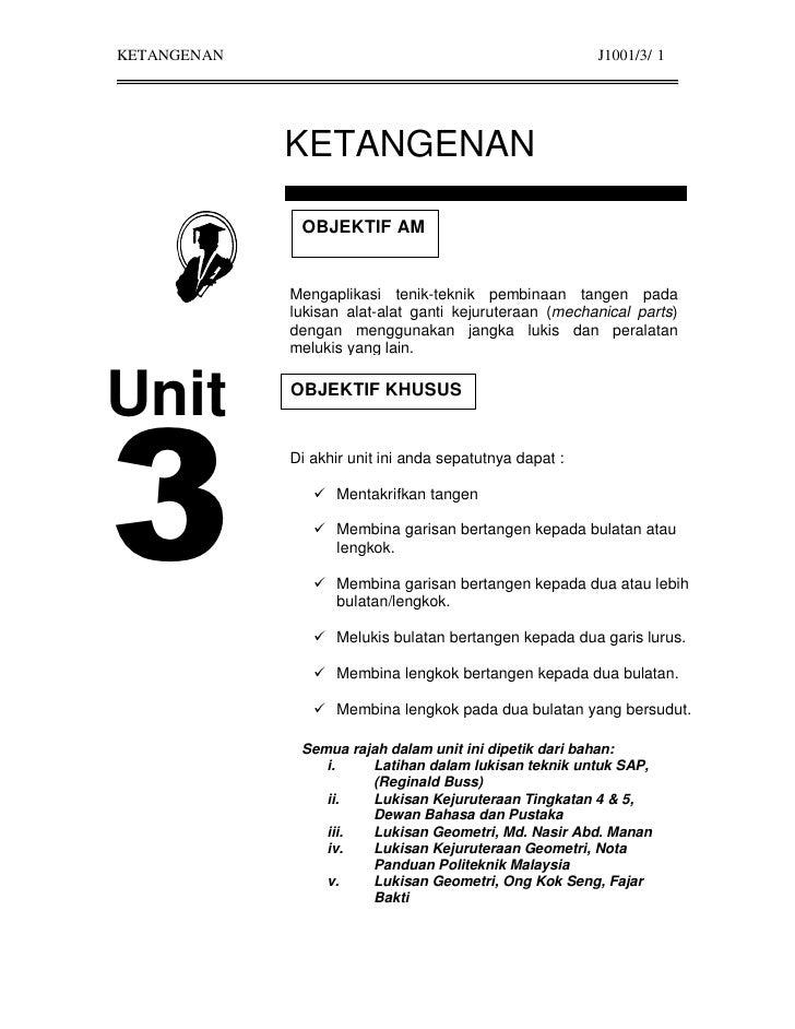 KETANGENAN                                               J1001/3/ 1                  KETANGENAN                OBJEKTIF AM...