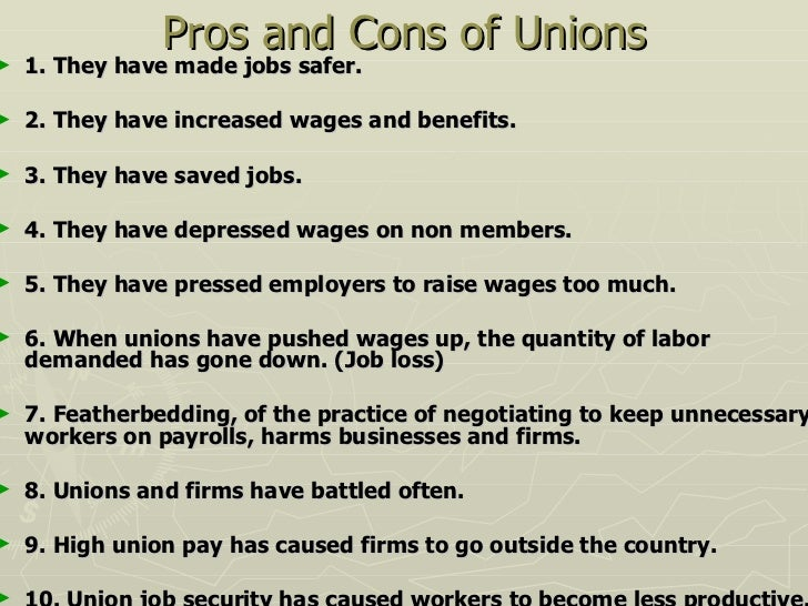 Pros and cons of nursing labor unions