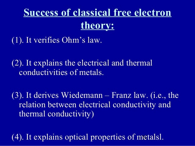 An Electron Theory of Electric Conduction in Metals
