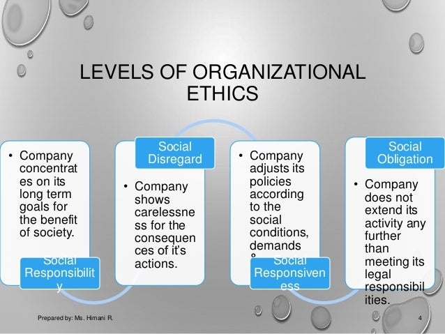 ethics and management