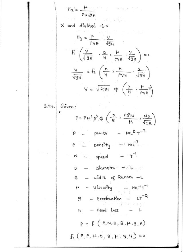 CE6451 - FLUID MECHANICS AND MACHINERY UNIT - III NOTES