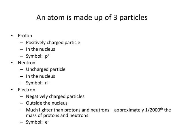 Unit 3 2 Structure Of The Atom