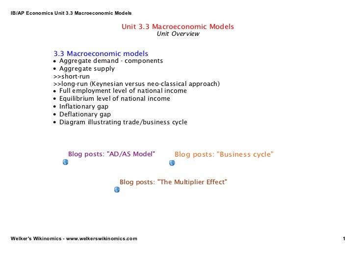 IB/APEconomicsUnit3.3MacroeconomicModels                                         Unit 3.3 Macroeconomic Models      ...