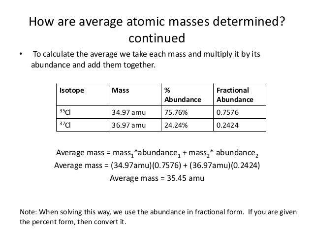 Unit 3 4 average atomic mass 8 how are average atomic masses urtaz Choice Image